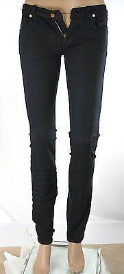 Jeans Donna Pantaloni MET Made in Italy Slim Fit C712 Blu Tg 26 veste piccolo