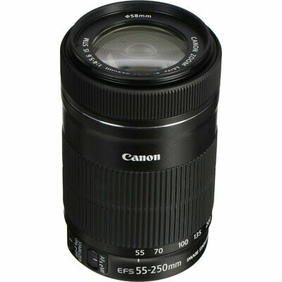Canon EF-S 55-250mm f/4-5.6 IS STM Lens 55-250 f4.0-5.6 NEW White Box