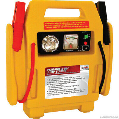 4 IN 1 - 12V Jump Starter with 250psc Air Compressor / Portable Power / Torch