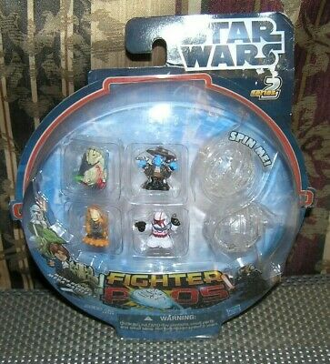 2012 Hasbro Star Wars Series 2 Micro Heroes Mega Battles Fighter Pods ~ NOS