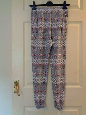 Girl's Printed Harem Trousers Pants Leggings By F&F Age 11-12 Years