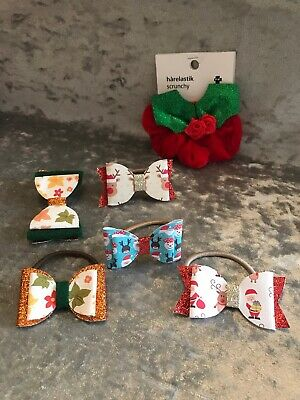 Lot Of Girls Hair Bows Clip Christmas Hairbands Sparkly