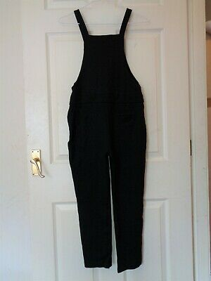 GIRL'S BLACK DUNGAREES BY NEXT AGE 10 YEARS HEIGHT 140cm VGC