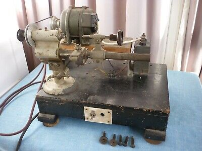 Antique Clockmakers Lathe + 5 Collets .