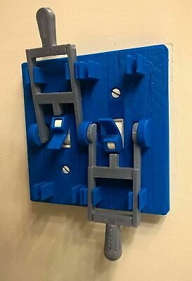 Blue Frankenstein Dual Toggle Light Switch Plate Cover Flip Handle