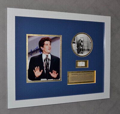 JOHN KENNEDY Jr SIGNED Autograph, BABY BLANKET, JFK Jr. COA UACC NEWSPAPER Frame