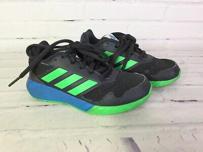 adidas Kids Boys Size 10.5 AltaRun Shoes Athletic Sneaker Gray Green Blue AH2420