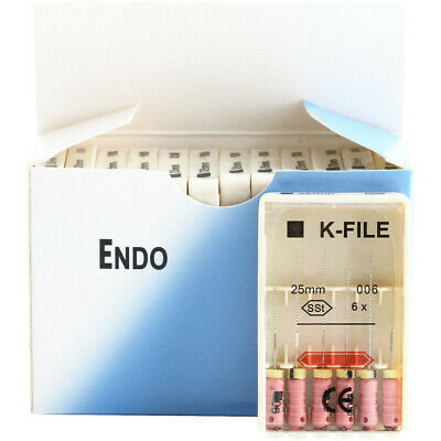 10 Packs Dental K-FILE 25mm 006 SSt Endodontic Endo Root Canal files Hand Use