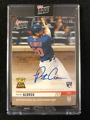 2019 Topps Now Pete Alonso RC #496 Multiple RBI in All Star Game