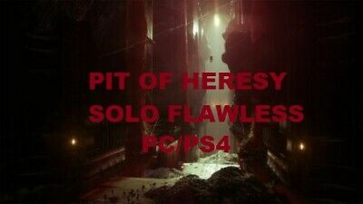 Destiny 2 Pit of Heresy Dungeon / Solo Flawless for Crimson Echoes Emblem PC/PS4