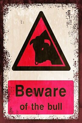 farm drive gate Beware Free Range Chickens Warning Retro Vintage Metal Sign