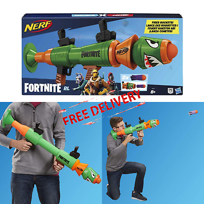 Fortnite Rockets Launcher Nerf RL Blaster Kids Toy Outdoor Activity Shooting Fun
