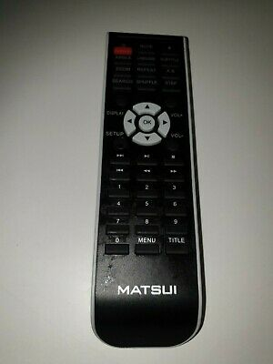 Replacement Remote Control for Matsui DVDR100