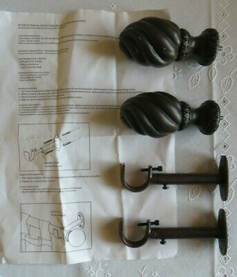 "Wooden Finials with 4"" rod extenders"