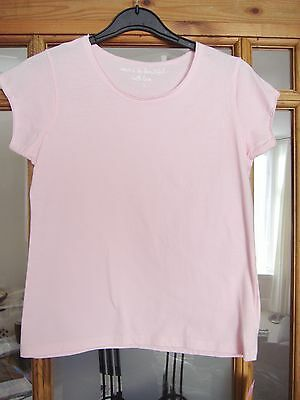 Girls light pink scoop neck t-shirt age 11 years Marks and Spencer new