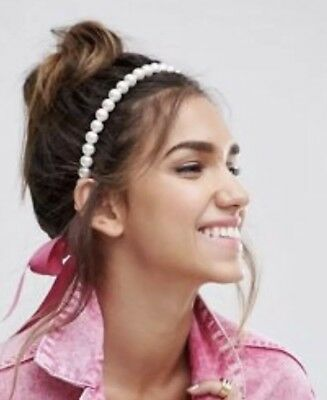ASOS White Pearl Head Piece - Worn Once