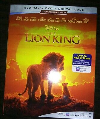 NEW - The Lion King 2019 Live - Action  Blu Ray + DVD + Digital w/slipcover