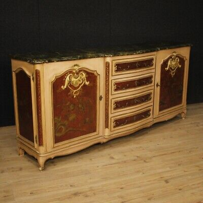Cupboard Venetian Furniture Wooden Lacquered Painted Chinoiserie Antique Style 2