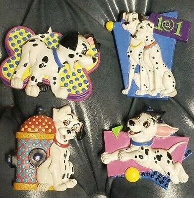 Disney 101 Dalmations Magnets Refrigerator Lot of 4 Pongo Perdita