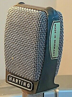 Vintage RARE 1960's HARTING MD407HN Dynamic Microphone (Sennheiser) working