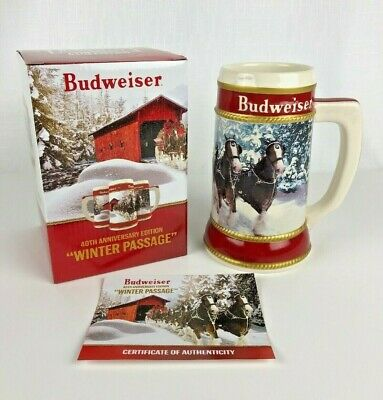 2019 Budweiser Holiday Stein Winter Passage 40th Anniversary