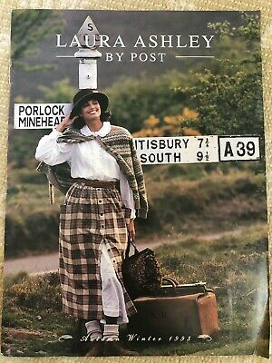 Laura Ashley By Post Fashion Catalog Autumn Fall 1993 Rare Excellent Condition