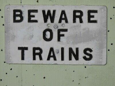 NSWGR cast iron sign in original condition.