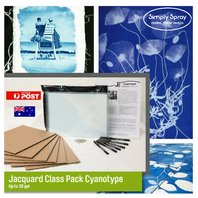 Jacquard Cyanotype Holiday creativity kit 30ppl solar art print w.sunlight easy