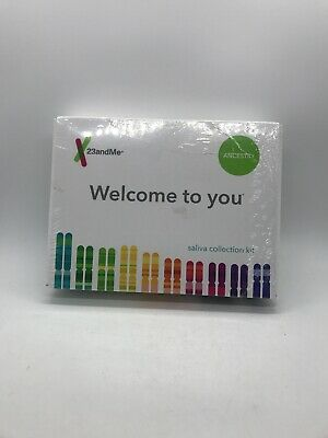 23andme ancestry Welcome to you saliva collection kit NIB