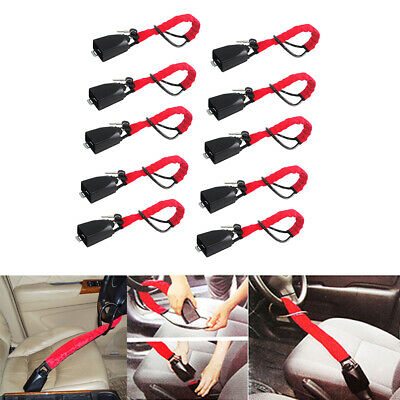 10x Universal Steering Wheel Lock Vehicle Car Security Key Alarm Anti Theft