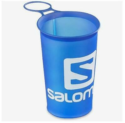 New Salomon Soft Cup Speed 150ml/5oz Camping Water Container Hydration Cups Blue