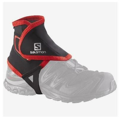 New Salomon Trail Gaiters High Hiking Running Foot Shoe Protective Black Small