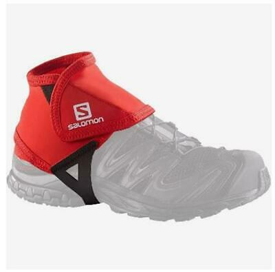 New Salomon Trail Gaiters Low Hiking Running Foot Shoe Protective Red Small