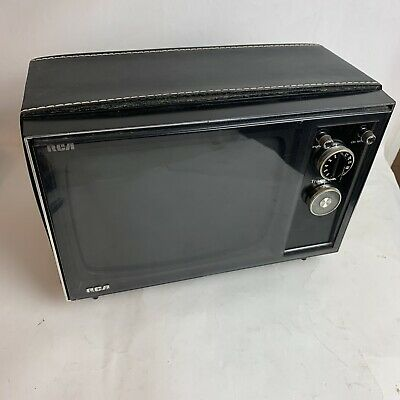 RARE Working Vintage Portable  RCA TV 1970s Retro Gaming Solid State 1972 Vtg