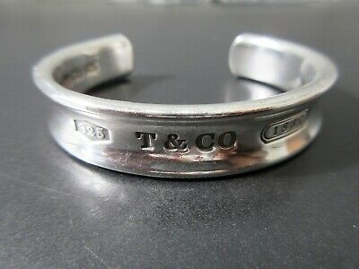 Authentic Tiffany & Co. 1837 Bangle Sterling Silver 925 Good 78927