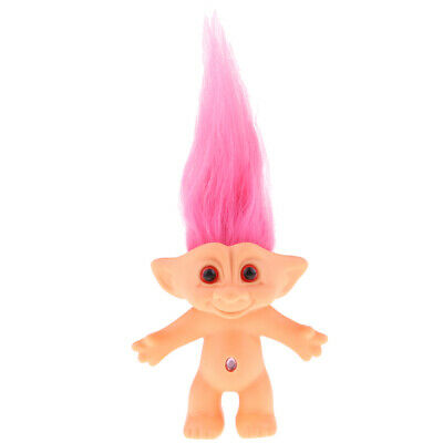 Pink Retro Lucky Troll Doll Mini Figure Toy Cake Toppers Home Office Decor