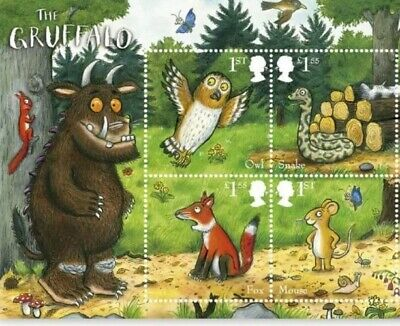 GB Stamps 2019 'The Gruffalo' mini sheet (with barcode) - U/M