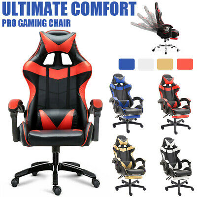 Gaming Chair Office Chair Computer Executive Chairs Seating Racing Racer Cool AU