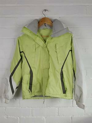 Dunnes Store Lime Green Padded Hooded Waterproof Ski Jacket Size 11-12 Years