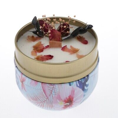 Romantic Tin Box Scented Candle Portable Travel Tea Light Natural Soy Wax
