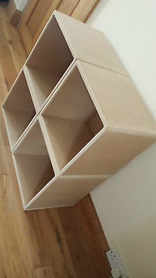 "12"" Vinyl Record Storage Cube ( 4 Cube Special Offer )"