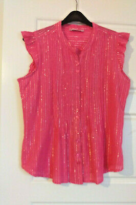 PAPAYA Womens Pink Sparkly Short Sleeve Top 12 - C44
