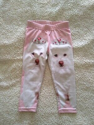 Pumpkin Patch Girls leggings pink dog Size 12-18mths 1