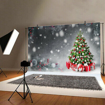 Seamless Christmas Tree Photography Background Xmas Snow Gifts Studio Backdrops