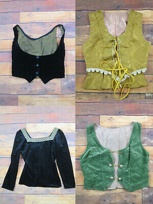 Job Lot Of 9 Theatrical Tops - Victorian Style Tops - Vintage Tops/Waistcoats