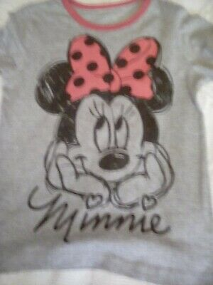 Girls Pyjamas Minnie Mouse age 7/8 Iron on inside Used A 69