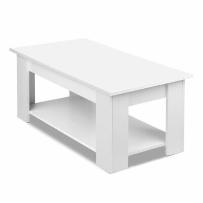 AU STOCK BRAND NEW Artiss Lift Up Top Mechanical Coffee Table - White