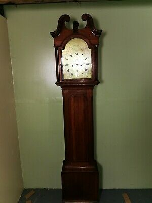 Elgin Brass Faced Grandfather Clock