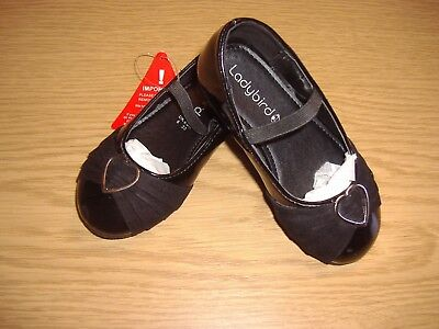 Toddler girls black patent ballet pumps ballet shoes with elastic strap new