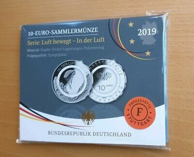 """10€ Germany 2019 """"In the Air"""" with Polymer,  Mint F . Proof"""